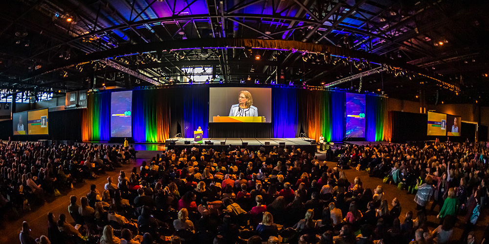 photo of female speaker giving a talk at ASCD Empower19